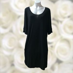 Ekouaer Nursing Breastfeeding Gown Dress XL Black